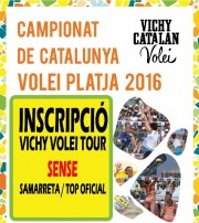 INSCRIPCIÓN VICHY VOLEI TOUR 2016 SIN CAMISETA / TOP